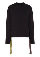 Jil Sander Tasseled Cotton-Jersey T-Shirt