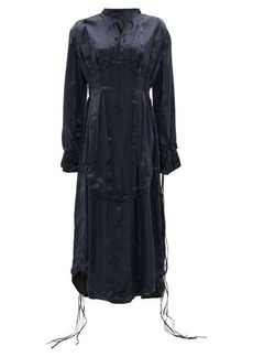 Jil Sander Tasselled-sleeves silk midi dress