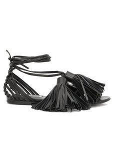 Jil Sander Tasselled wrap-around leather sandals