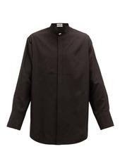 Jil Sander Thursday P.M. bib-front silk-poplin shirt