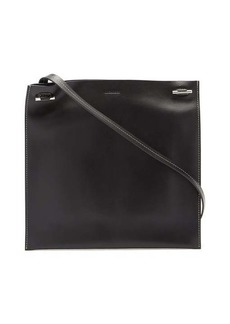 Jil Sander Toggle-strap small leather tote bag