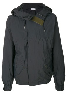 Jil Sander touch strap hooded jacket - Metallic