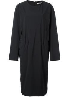 Jil Sander tucked effect dress - Black