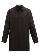 Jil Sander Tuesday P.M. buttoned-sides silk-poplin shirt