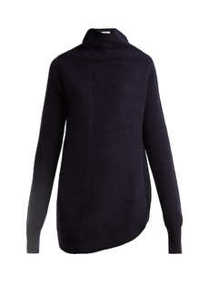 Jil Sander Twisted-side wool and cashmere-blend sweater