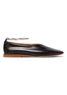 Jil Sander Two-tone square-toe leather ballet flats