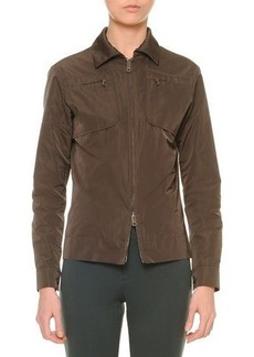 Jil Sander Two-Way Zip-Front Bomber Jacket
