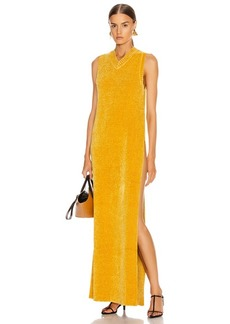 Jil Sander V Neck Long Dress