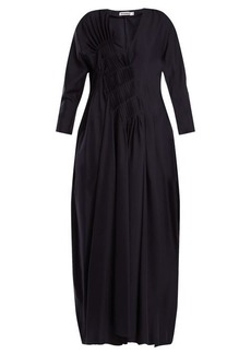 Jil Sander V-neck silk dress