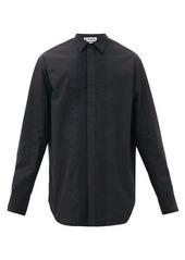 Jil Sander Wednesday P.M. pintucked cotton shirt