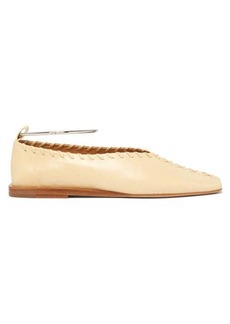Jil Sander Whipstitched leather ballet flats
