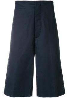 Jil Sander wide leg bermuda shorts - Blue