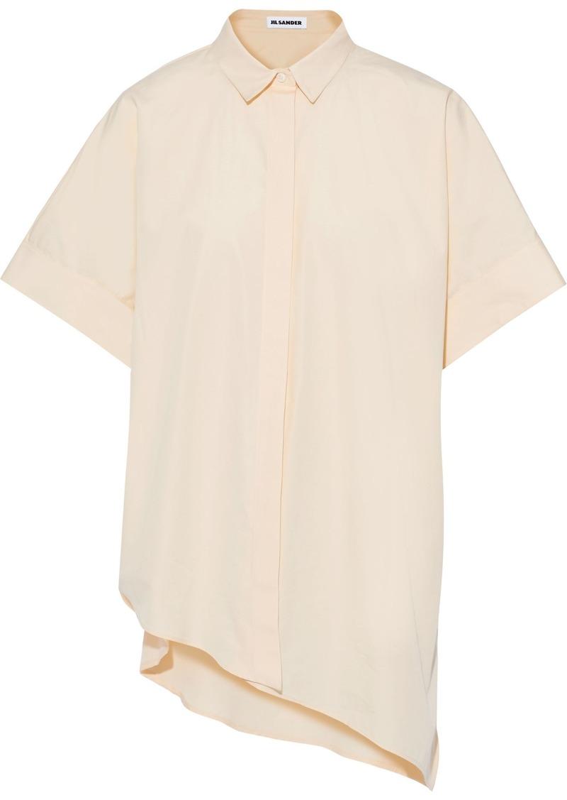 Jil Sander Woman Asymmetric Oversized Cotton-poplin Shirt Pastel Yellow