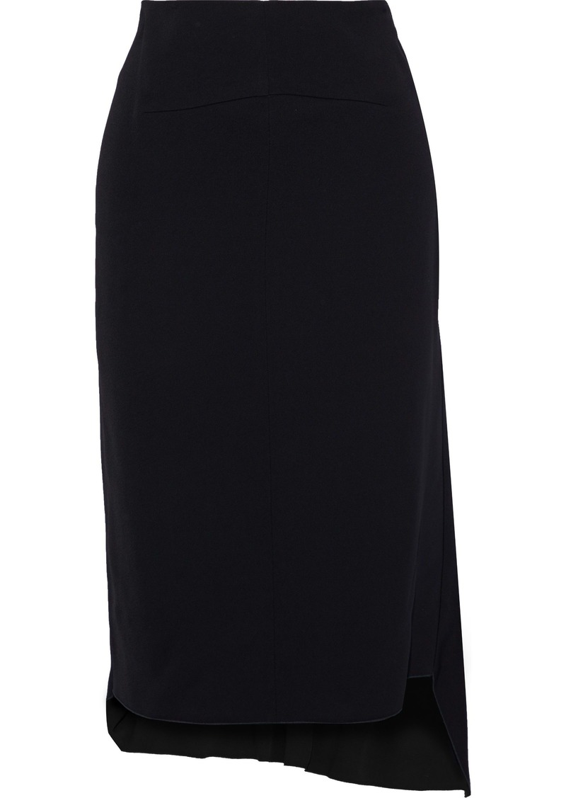 Jil Sander Woman Asymmetric Crepe Skirt Black