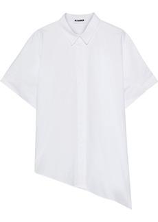 Jil Sander Woman Asymmetric Oversized Cotton-poplin Shirt White