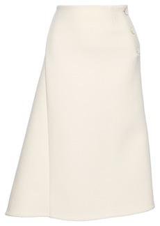 Jil Sander Woman Asymmetric Wool-blend Felt Midi Skirt Off-white