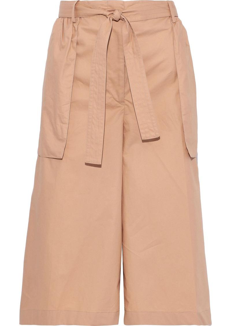Jil Sander Woman Belted Cotton-poplin Culottes Sand