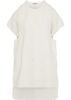 Jil Sander Woman Button-detailed Linen-blend Tunic Neutral