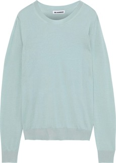 Jil Sander Woman Cashmere And Silk-blend Sweater Mint