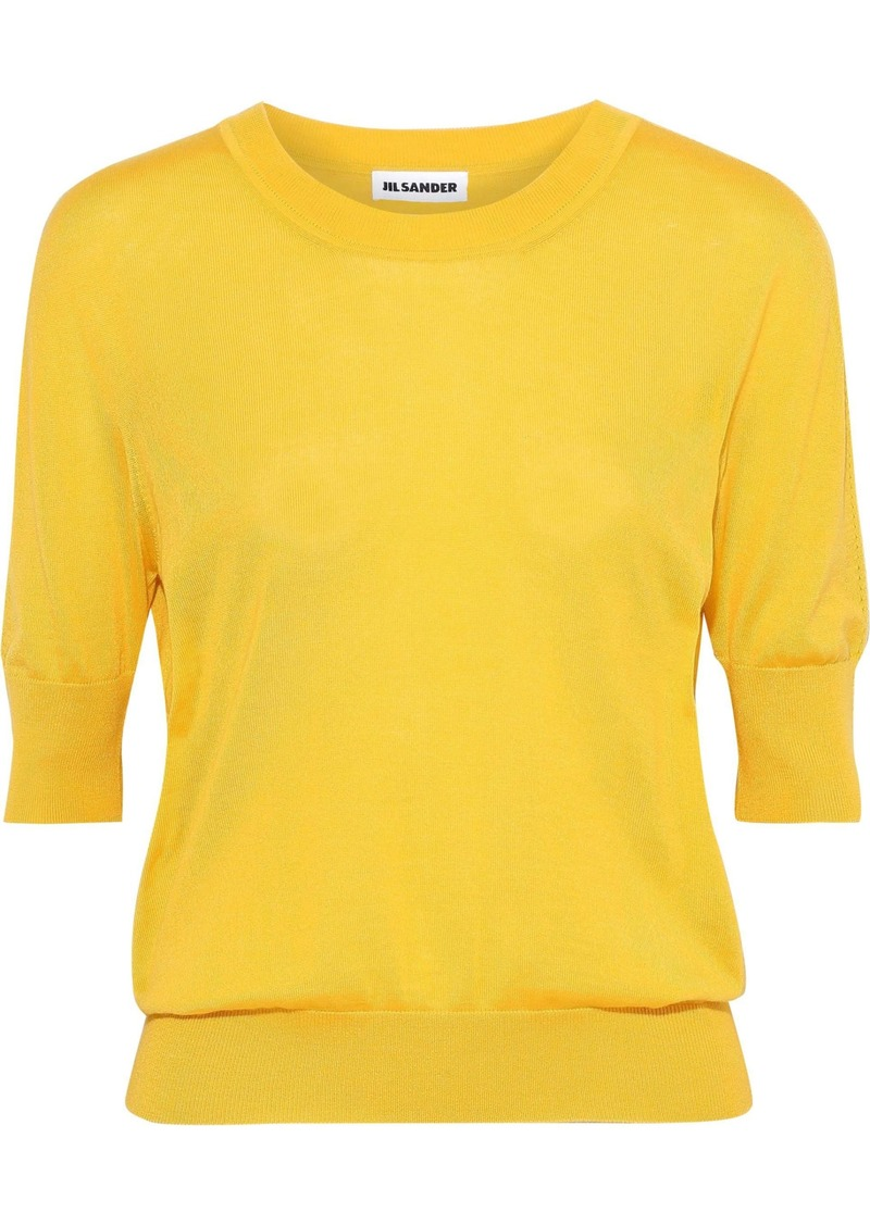 Jil Sander Woman Cashmere And Silk-blend Top Yellow