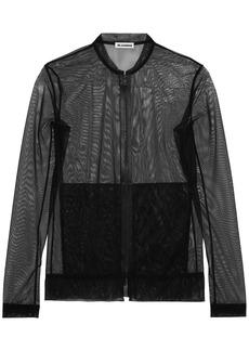 Jil Sander Woman Stretch-tulle Bomber Jacket Black