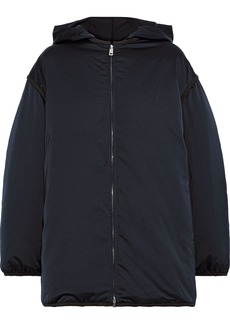 Jil Sander Woman Convertible Layered Shell Down Hooded Jacket Midnight Blue