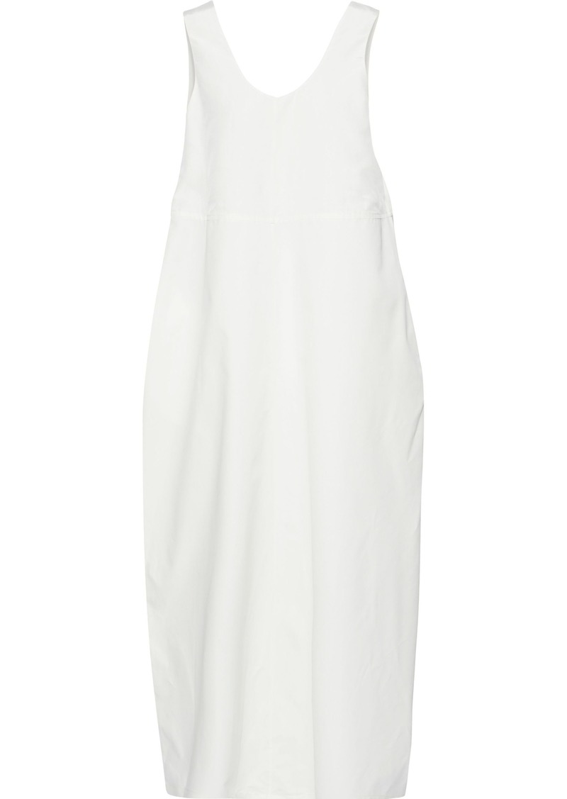 Jil Sander Woman Cotton And Silk-blend Maxi Dress Ivory