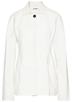 Jil Sander Woman Cotton-blend Drill Jacket Ivory