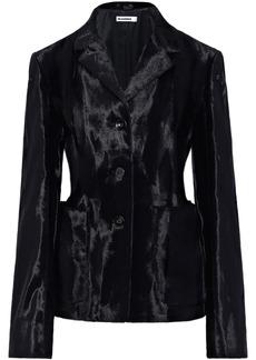Jil Sander Woman Cotton-blend Faux Fur Jacket Black