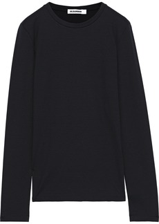 Jil Sander Woman Cotton-blend Jersey Top Black