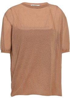 Jil Sander Woman Cotton-blend Top Light Brown