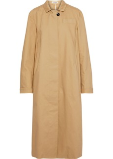 Jil Sander Woman Cotton-canvas Coat Sand