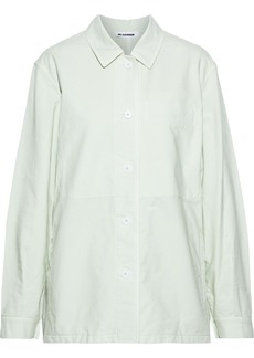 Jil Sander Woman Cotton-canvas Jacket Mint