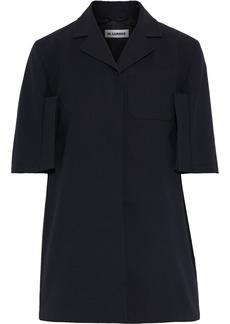 Jil Sander Woman Cotton-crepe Shirt Black