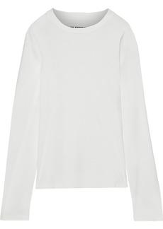 Jil Sander Woman Cotton-jersey Top Ivory