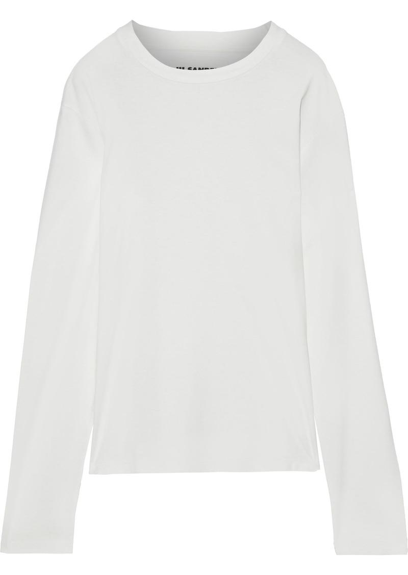 Jil Sander Woman Cotton-jersey Top Off-white