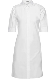 Jil Sander Woman Cotton-poplin Mini Shirt Dress White