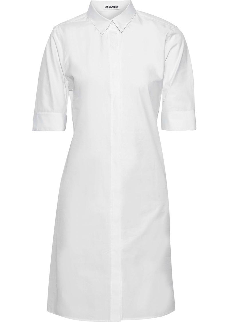 Jil Sander Woman Cotton-poplin Mini Shirt Dress White