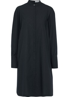Jil Sander Woman Cotton-poplin Shirt Dress Midnight Blue