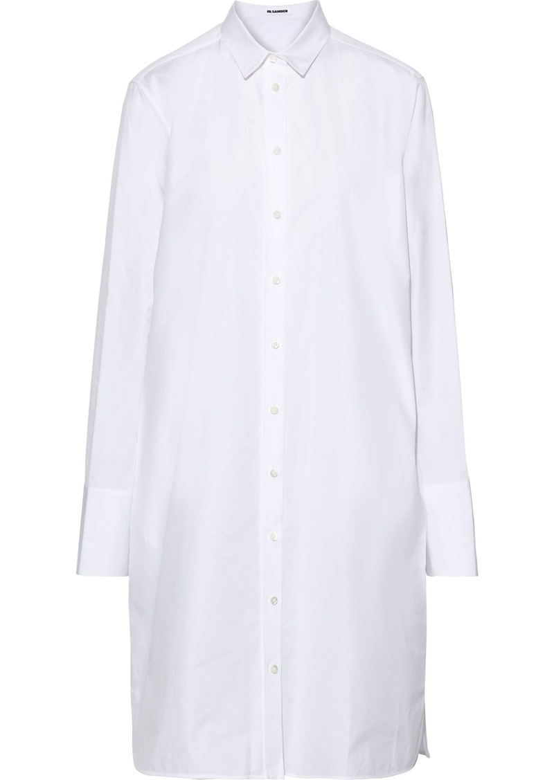 Jil Sander Woman Cotton-poplin Shirt Dress White