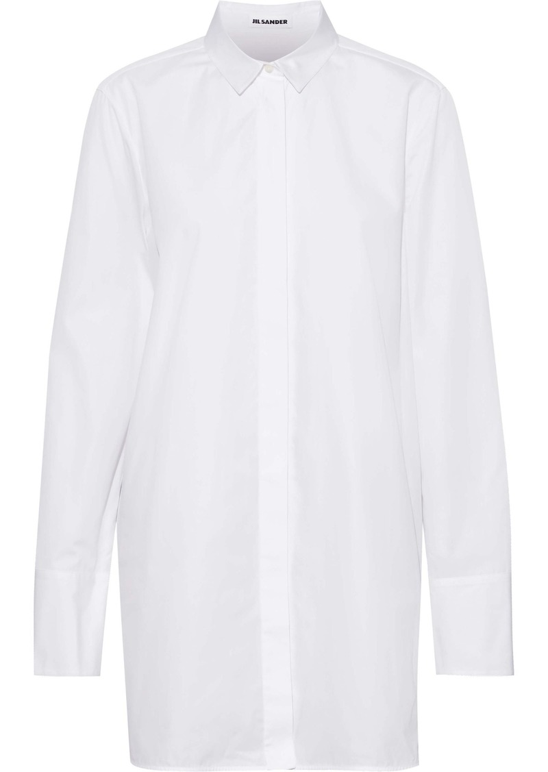 Jil Sander Woman Cotton-poplin Shirt White