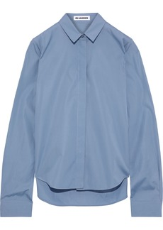 Jil Sander Woman Cotton-poplin Shirt Light Blue