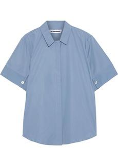 Jil Sander Woman Cotton-poplin Shirt Light Blue