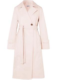 Jil Sander Woman Cotton Trench Coat Blush