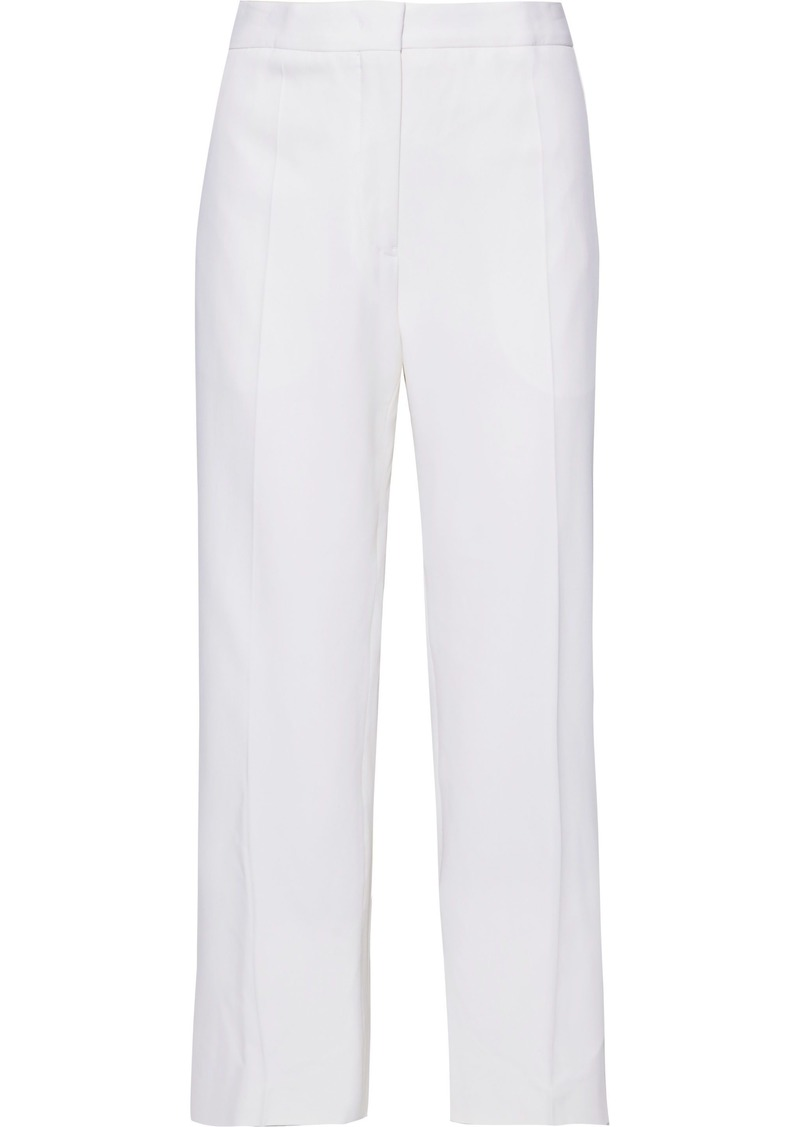 Jil Sander Woman Cropped Wool-blend Straight-leg Pants Ecru