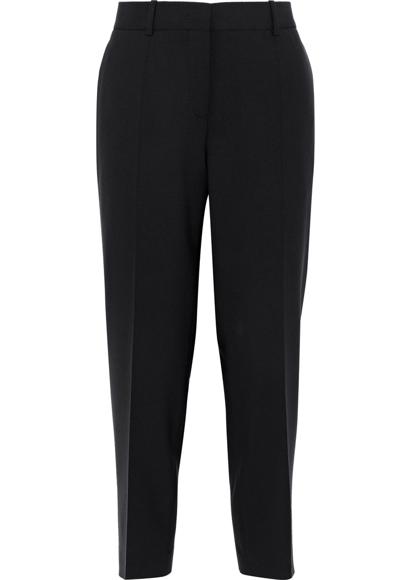 Jil Sander Woman Cropped Wool-blend Tapered Pants Black