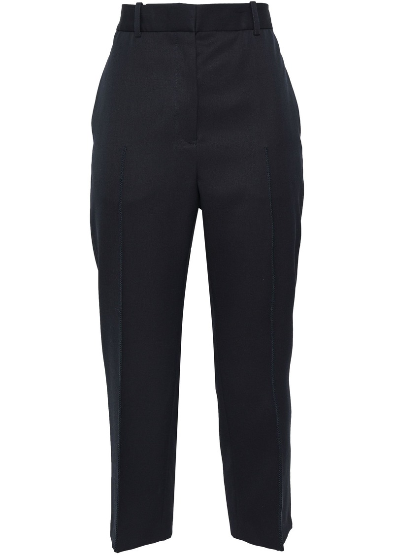Jil Sander Woman Cropped Wool-twill Straight-leg Pants Midnight Blue