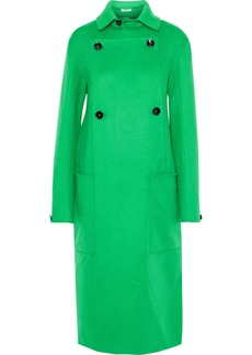 Jil Sander Woman Double-breasted Cashmere-felt Coat Bright Green