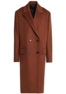 Jil Sander Woman Double-breasted Wool And Cashmere-blend Coat Brown