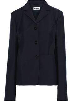 Jil Sander Woman Farrell Wool And Mohair-blend Jacket Midnight Blue
